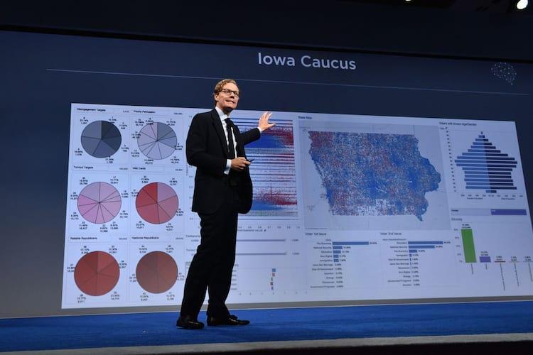 Nix mostrando os resultados da Cambridge Analytica