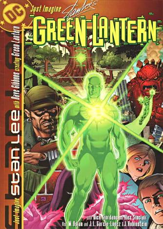 Capa da edição do Lanterna Verde para a série Just Imagine, escrita por Stan Lee para a DC Comics.
