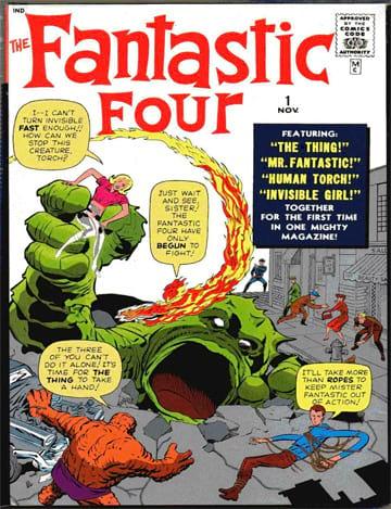 Capa da primeira edição do Quarteto Fantástico.