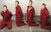 Usando fantasias de La Casa de Papel, youtuber e amigos são presos