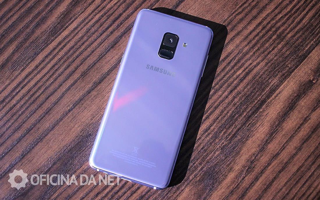 Câmera traseira do Galaxy A8