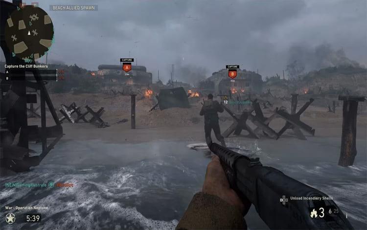 Screenshot de Call of Duty WW2. (Imagem: modernfix)