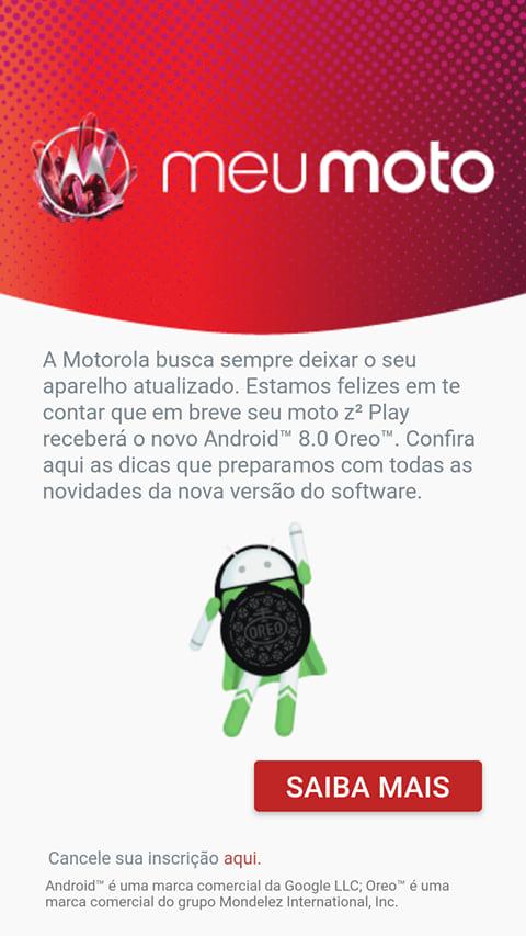 Mensagem recebida no Moto Z2 Play