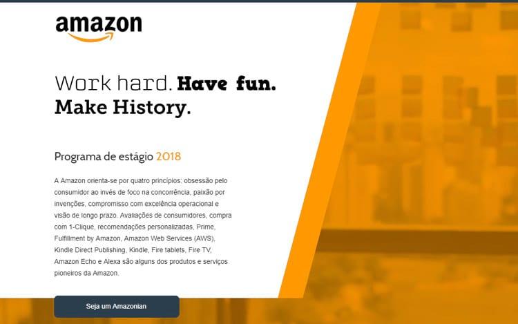 Amazon busca estagiários no Brasil
