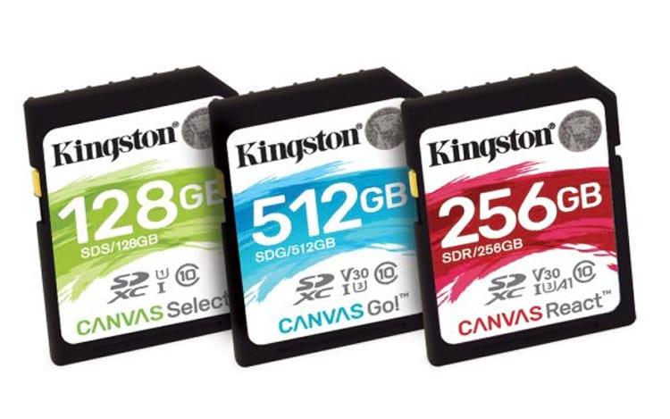 Kingston lança linha Canvas de cartões de memória SD e micro SD
