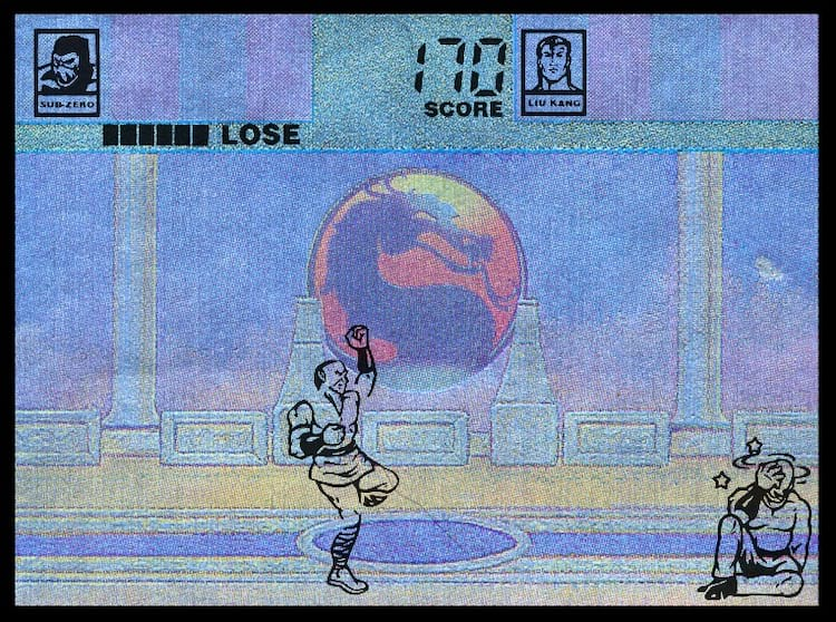 Mortal Kombat da Tiger Eletronics, publicado em 1993.