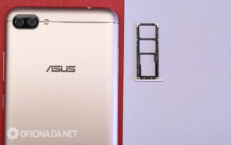Zenfone 4 Max - Slot de cartões não é híbrido