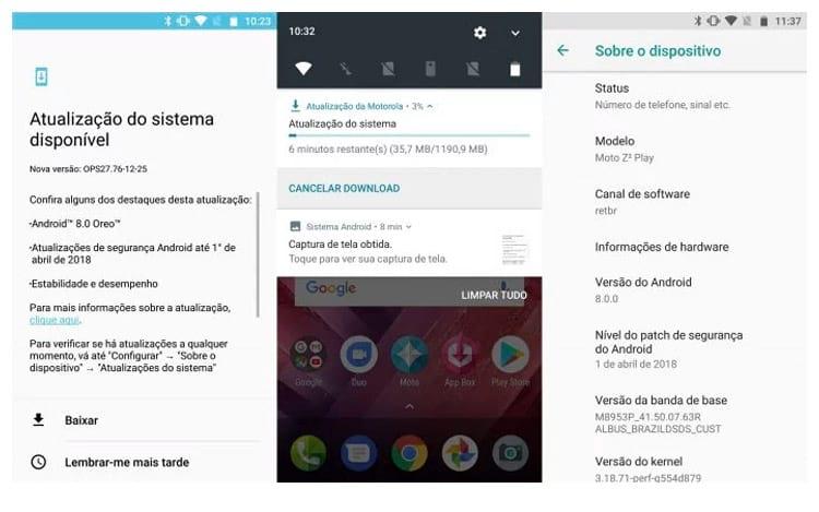 Android OREO chega ao Moto Z2 Play