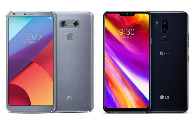 LG G6 comparado com LG G7 ThinQ