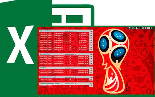 Tabela Copa do Mundo 2018 no Excel