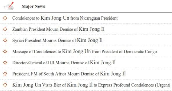 Nomes dos Grandes Líderes são destacadas das demais palavras