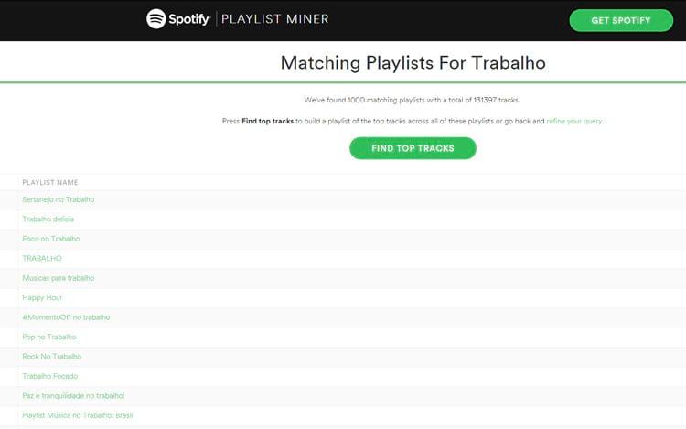 São milhões de playlists que a gente até se perde!