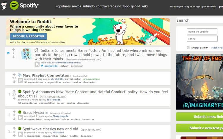No Reddit podemos encontrar de tudo um pouco, até playlists!