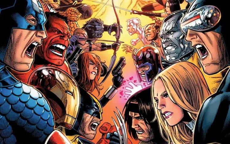Vingadores vs. X-Men (Imagem: Marvel Comics)