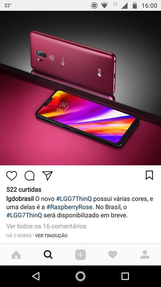 LG do Brasil revela lançamento nacional do G7 ThinQ.
