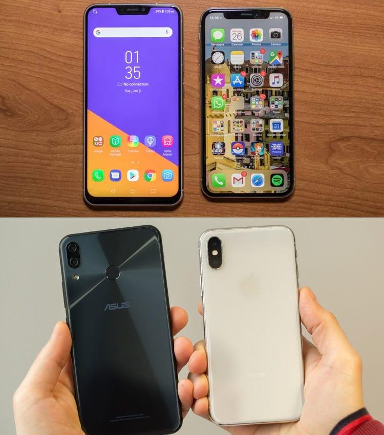 É um iPhone ou um Zenfone?