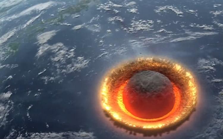NASA acompanha asteroide antes de impactar com a atmosfera terrestre.