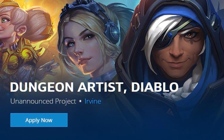 Blizzard: Vaga para Artista de Dungeon