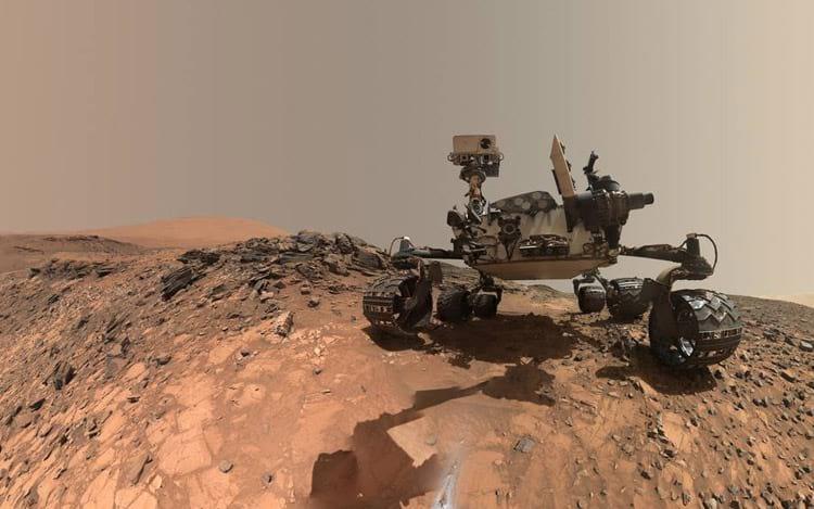 Curiosity em Marte. Créditos da foto: NASA/JPL-Caltech/MSSS