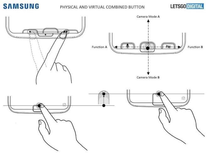 Samsung registra patente de aparelho com botão físico e virtual combinados.