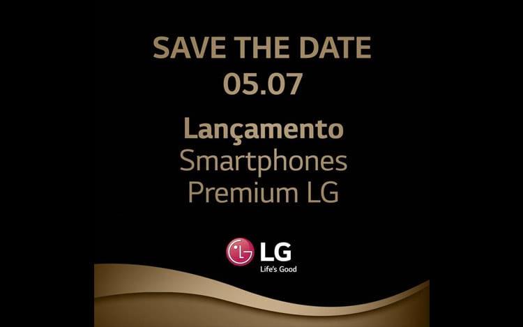 Convite de lançamento do LG G7 no Brasil