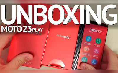 Moto Z3 Play - Unboxing