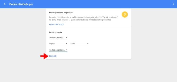Google Minha Atividade