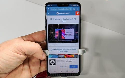 LG G7 chegou no Brasil custando R$ 3.999