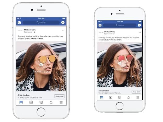 Facebook começa a ofertar anúncios em realidade aumentada .