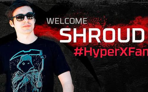 Shroud é o novo embaixador da HyperX