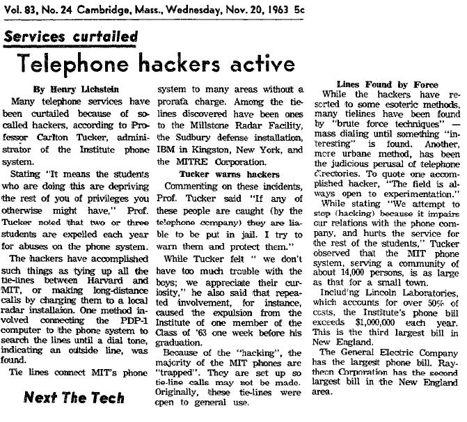 """Primeira publicação onde o termo """"hacker"""" é citado"""