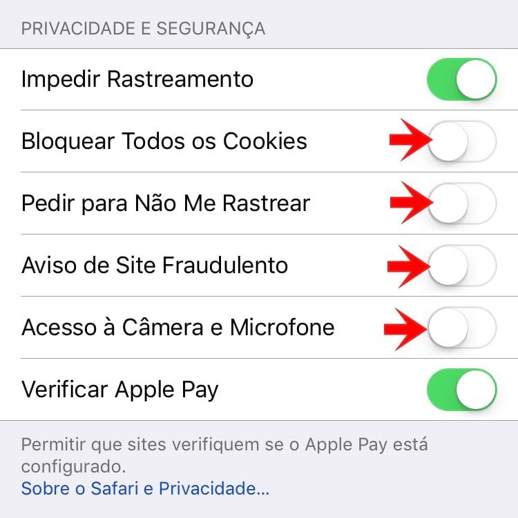 Privacidade e segurança