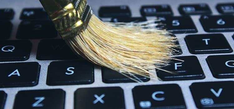 Escove seu teclado