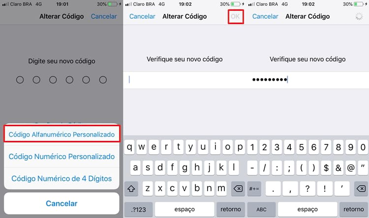 Alterar a senha do iPhone/iPad