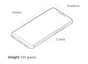 Dimensões do Zenfone 5