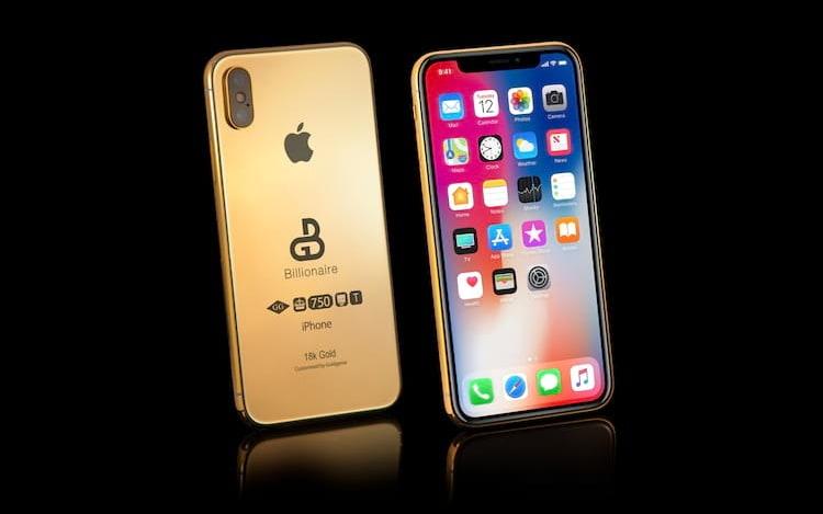 iPhone X em ouro pode valer meio milhão de reais.
