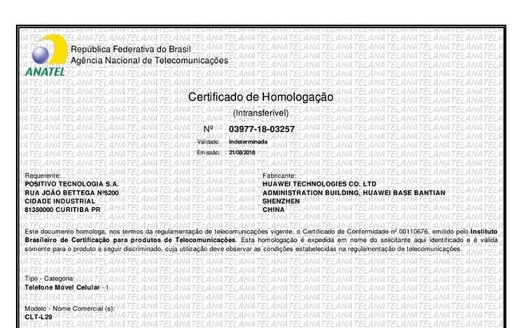 Certificação Anatel