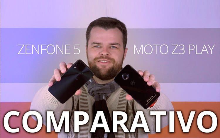 Comparativo Zenfone 5 vs Moto Z3 Play