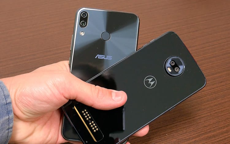 Comparativo de design Zenfone 5 vs Moto Z3 Play
