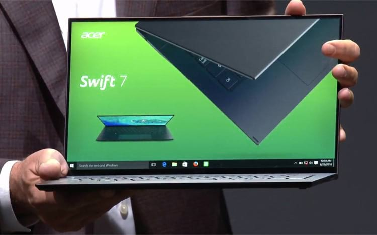 Acer apresenta nova versão do Swift 7 e afirma ser o laptop mais fino do mundo
