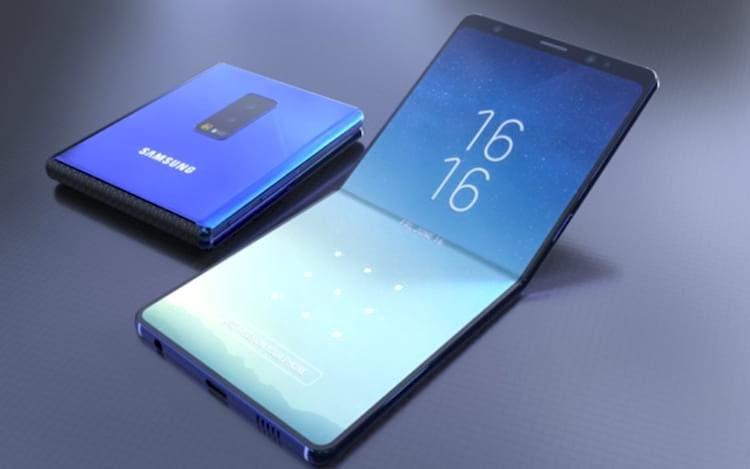 Samsung pode apresentar celular dobrável até o final do ano.