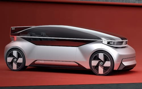 Carro conceito da Volvo pode se transformar em cama móvel