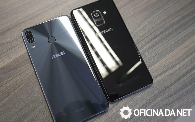 Zenfone 5 e Galaxy A8 feitos em vidro