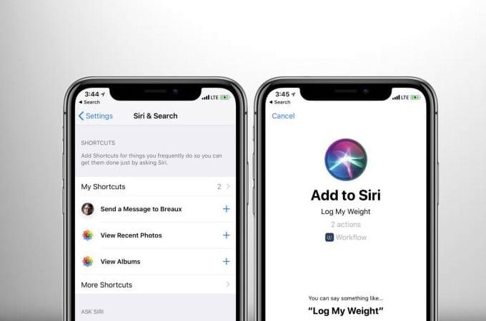 Atalhos da Siri