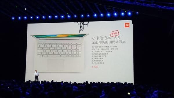 Xiaomi apresenta seu Notebook Youth com tela de 15,6 polegadas.