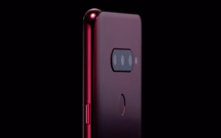 LG V40 ThinQ parte traseira com três câmeras