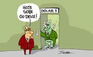 Charge: cotação do dólar