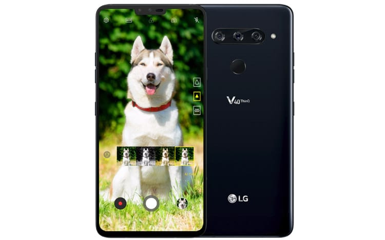 As câmeras do LG V40 ThinQ