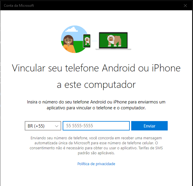 Vincular Android ao Windows