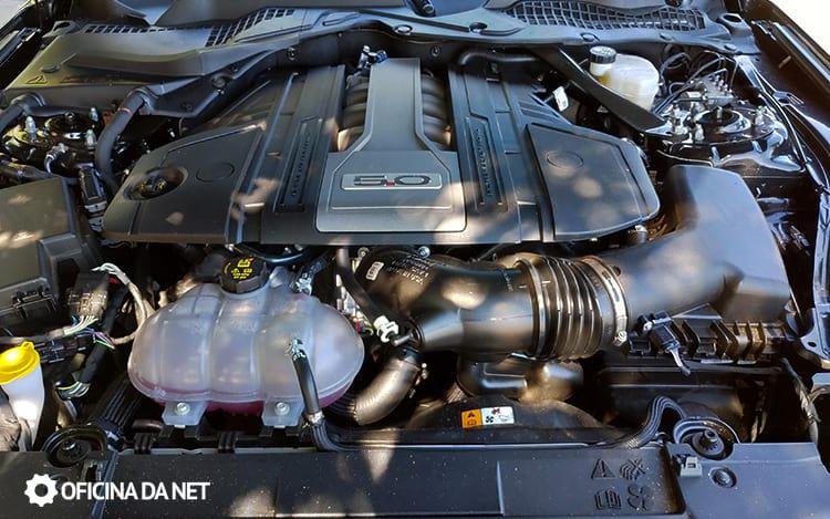 Motor do Ford Mustang GT Premium